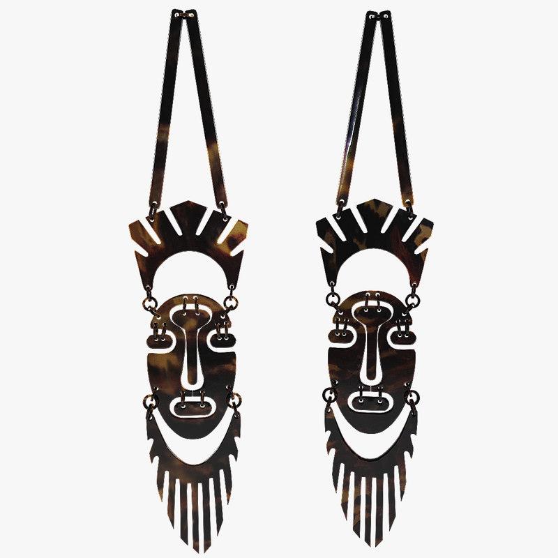African mask souvenir 3d model_1.jpg