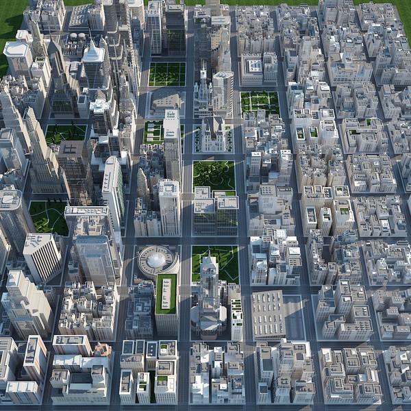 Big City - D 3D Models