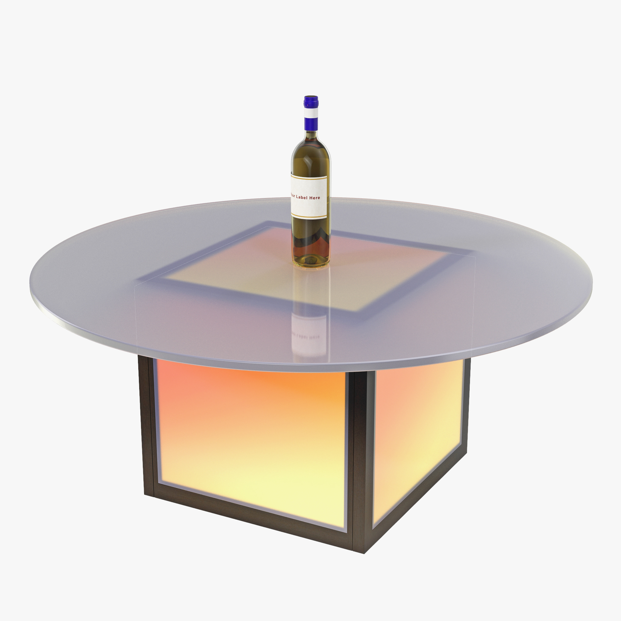 3ds Max Led Illuminated Coffee Table