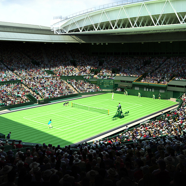 Wimbledon Tennis Centre Court 3D Models