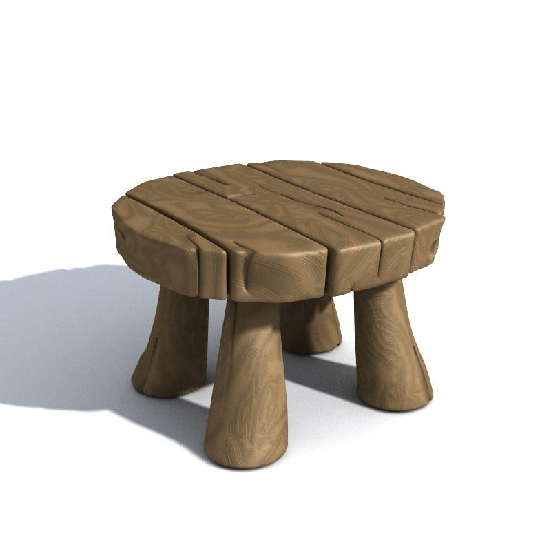 3d model cartoon table for Table design 3d model