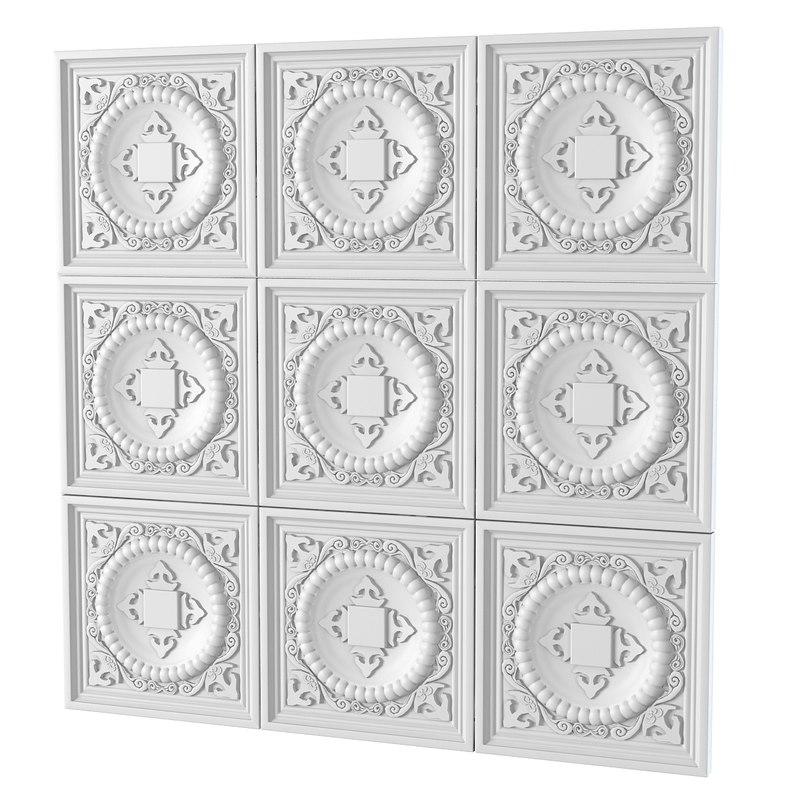 Plaster decorative pattern