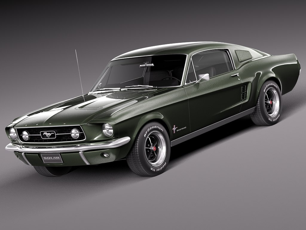 3d max 1967 mustang fastback. Cars Review. Best American Auto & Cars Review