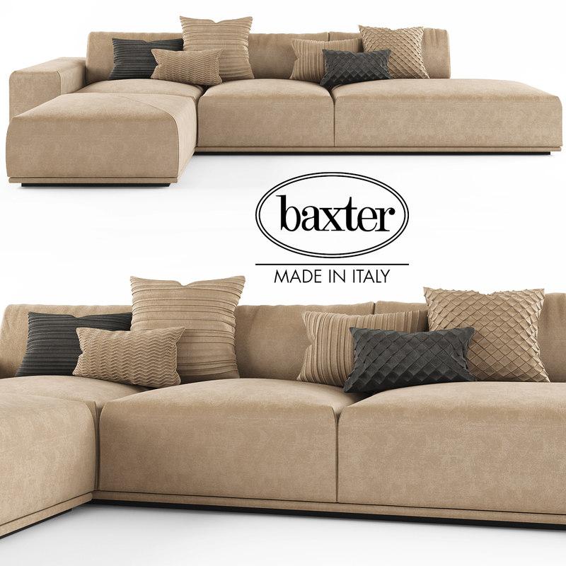 3d sofa baxter monsieur. Black Bedroom Furniture Sets. Home Design Ideas