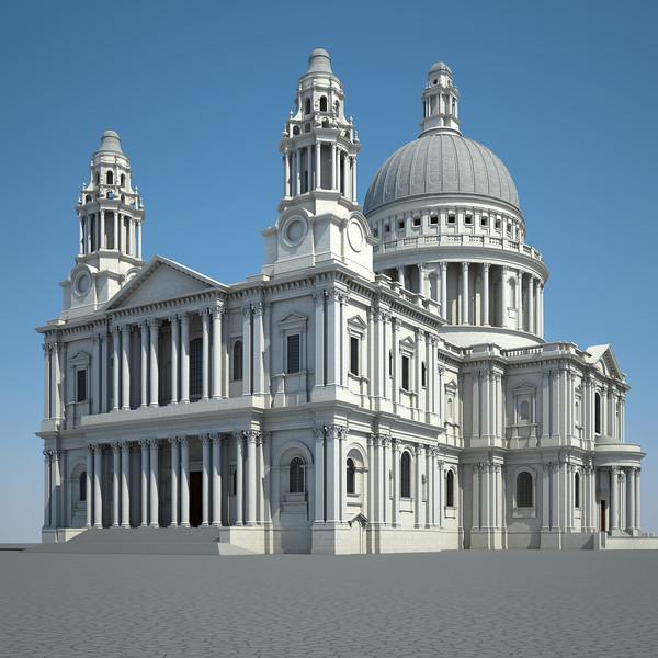 Saint Paul Cathedral 3D Models