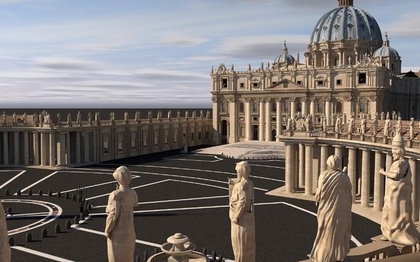 Square of Saint Peter 3D Models