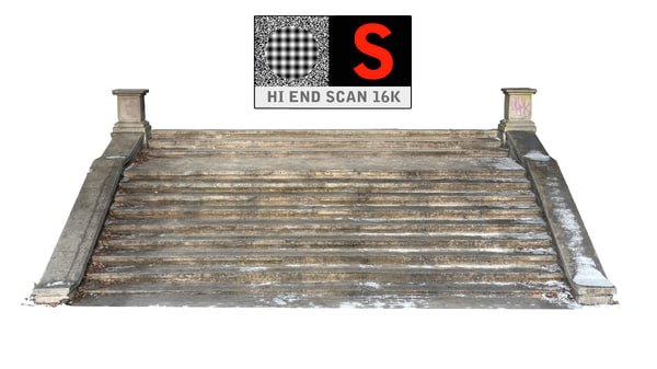 Stairs snow 3D Models