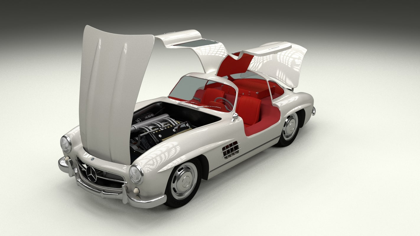 Fully Modelled/Rigged Mercedes 300SL Gullwing