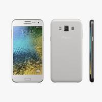 Samsung Galaxy E5 3D models