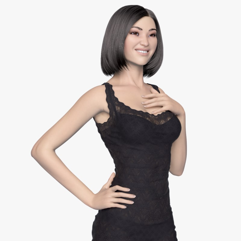 Evening Dress Lady