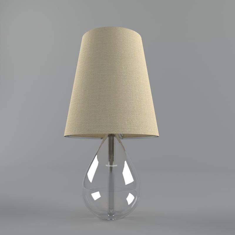 3d decoration lamp model for 3d decoration models