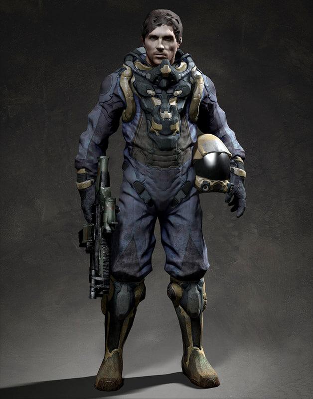 Soldier man space 3d model Best 3d models