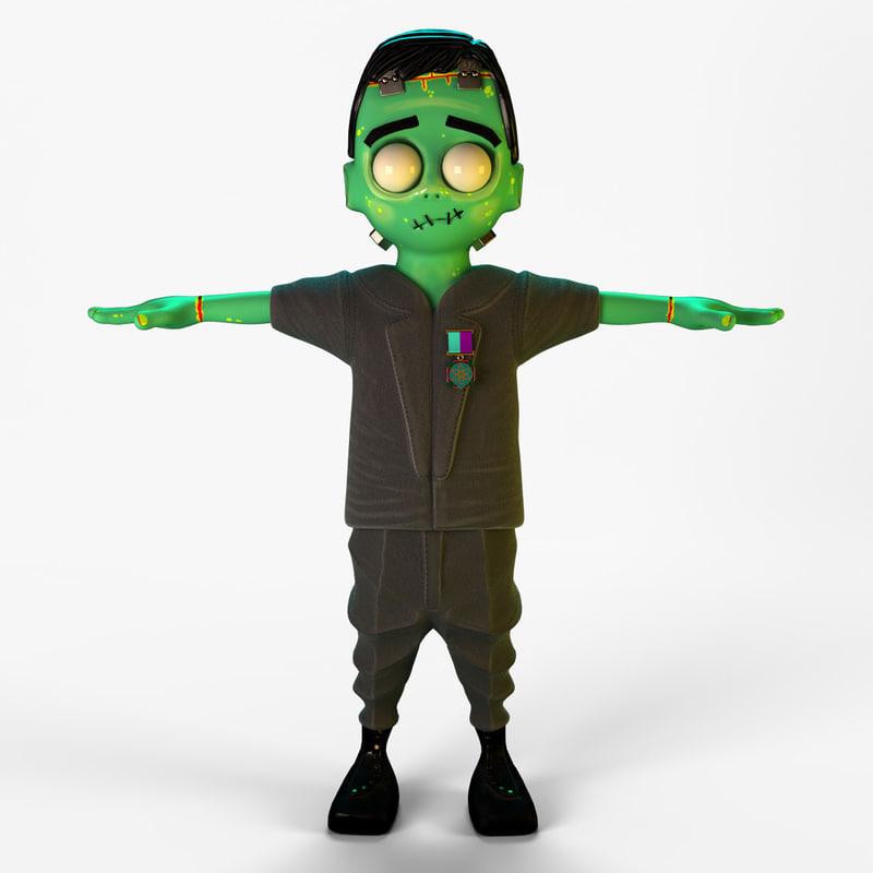 cartoon Frankenstein's monster