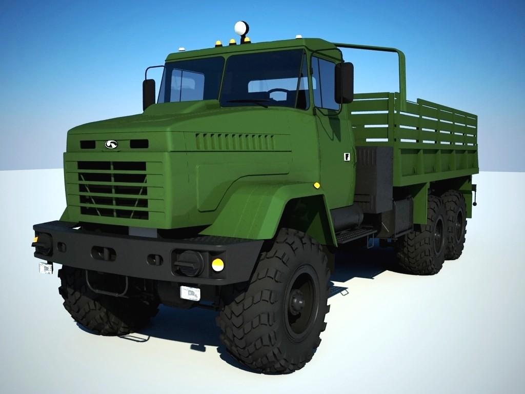 truck kraz 6322 3d max