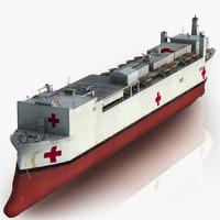 Hospital Ship 3D models