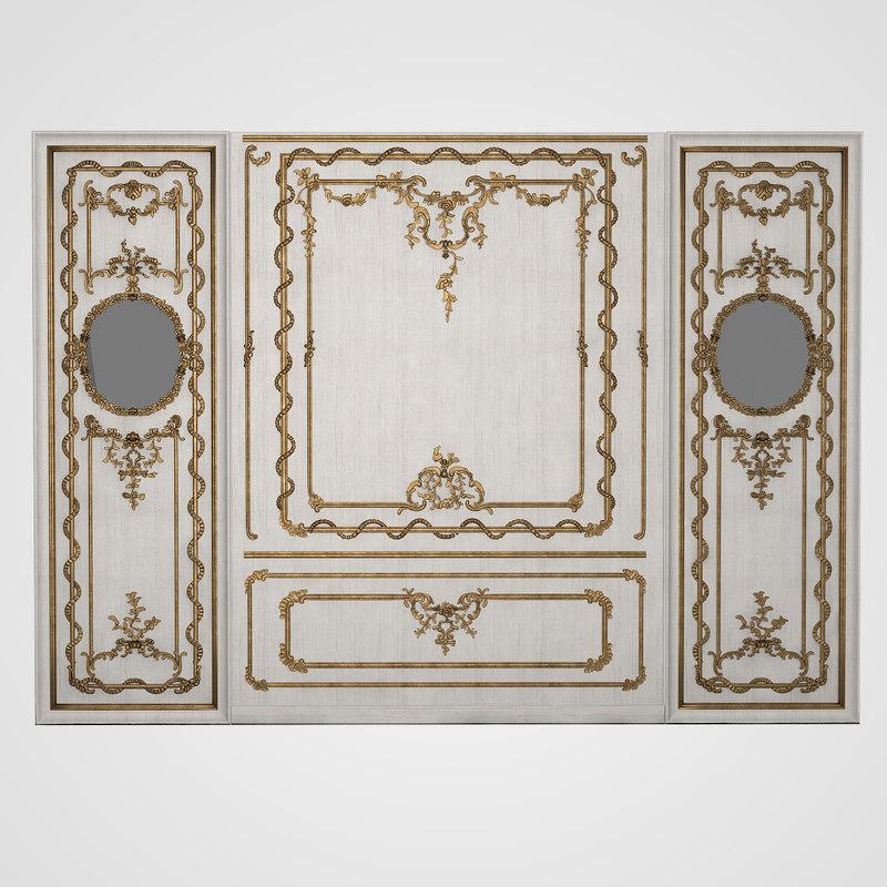 Austian Palace 18 Century Baroque Boiserie Panel