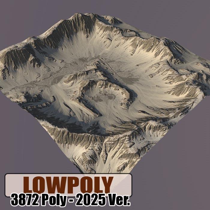 Lowpoly Mountain Z49