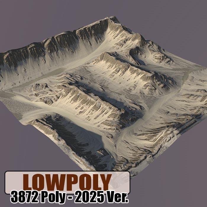 Lowpoly Mountain Z54