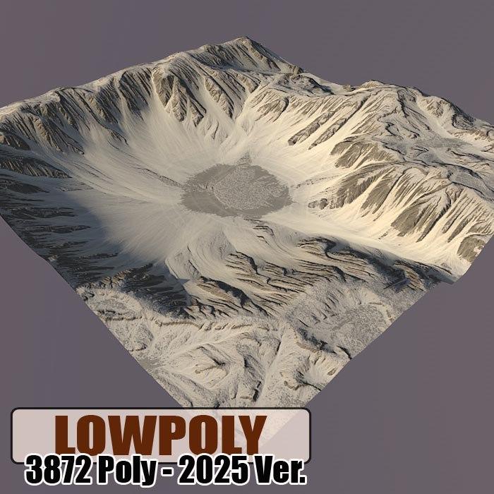 Lowpoly Mountain Z55