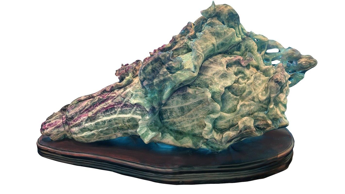 Mineral artifact sculpture