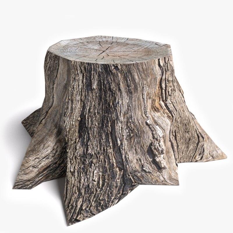 how to draw dead tree stump