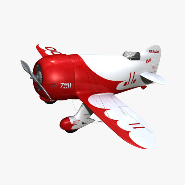 Gee Bee Model R1 Racer Texture Maps