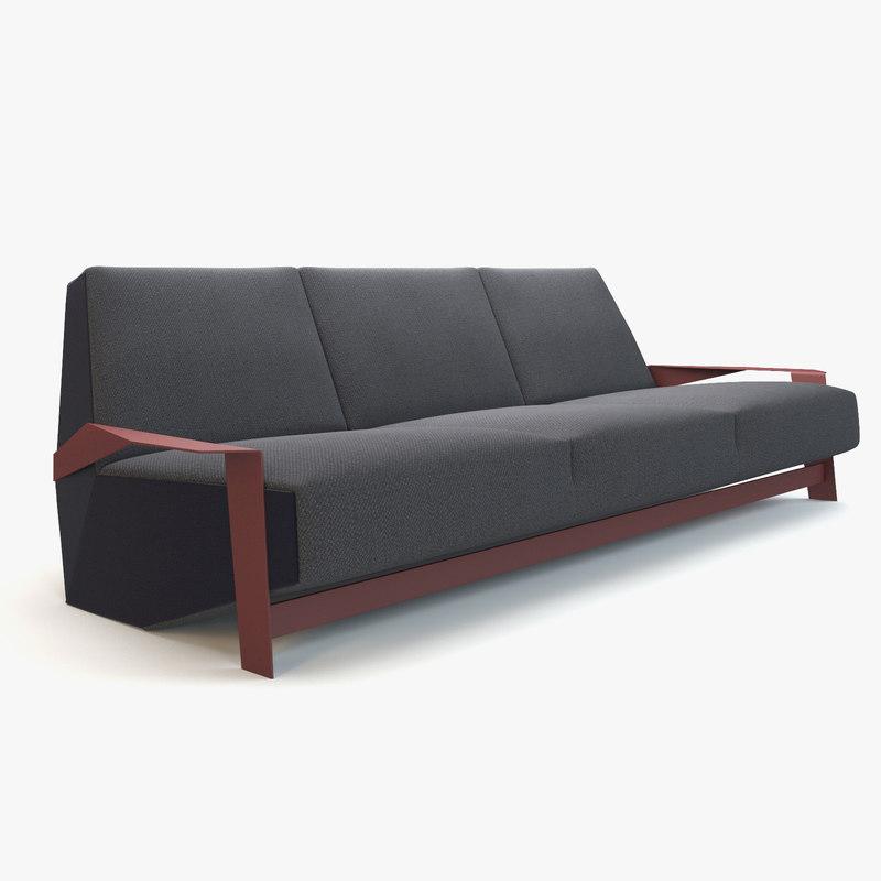 Sofa Moroso 3d Model