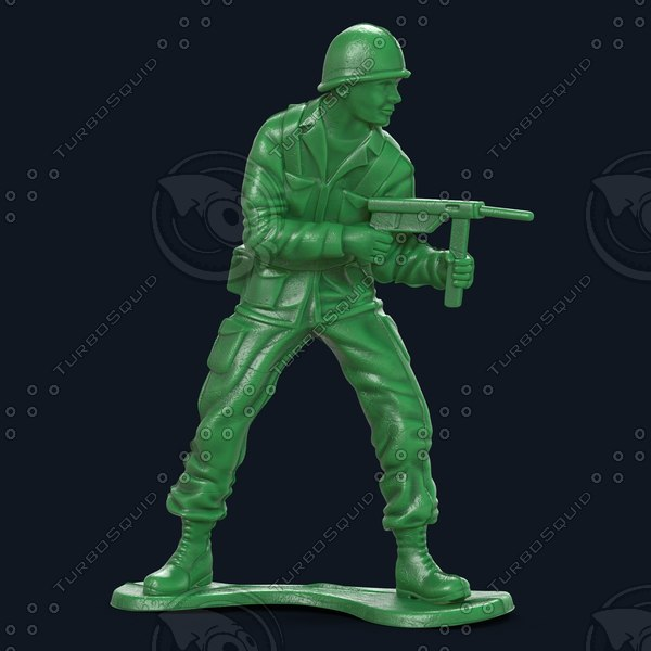Plastic Army Men  A 3D Models