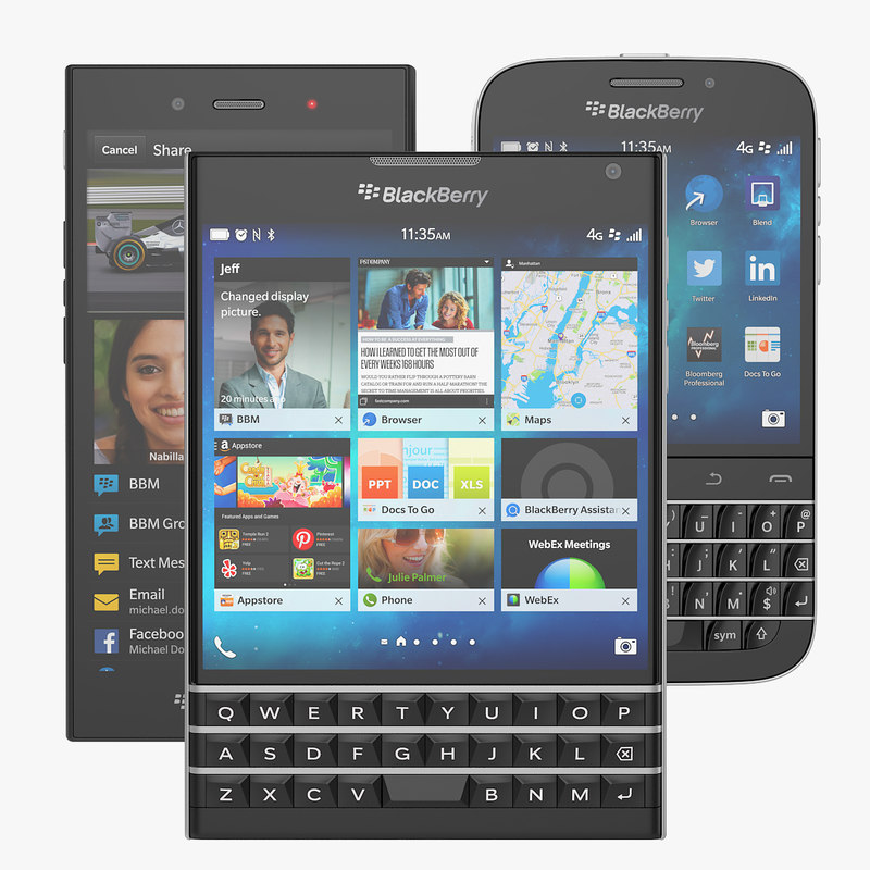 Blackberry Collection Of BB Classic, Passport And Z3