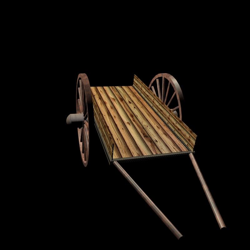 bullock cart car 3d c4d