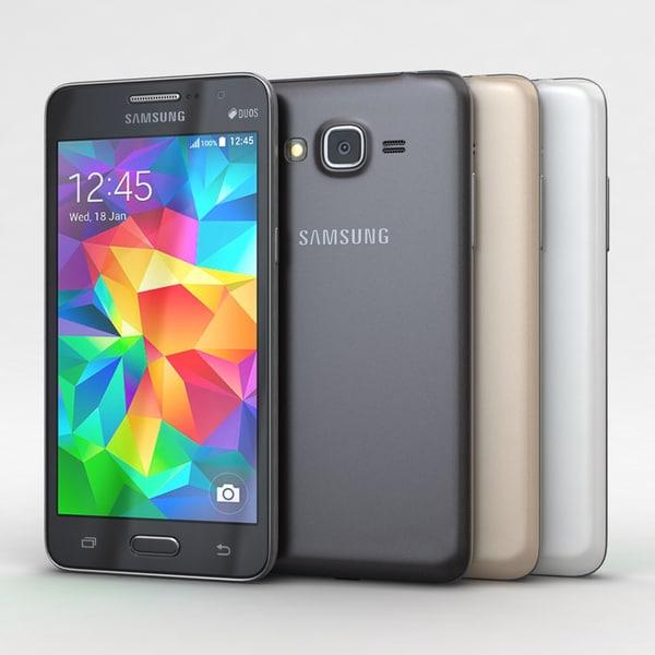 Samsung Galaxy Grand Prime All Color 3D Models