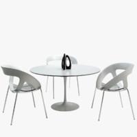 dining room set 3D models