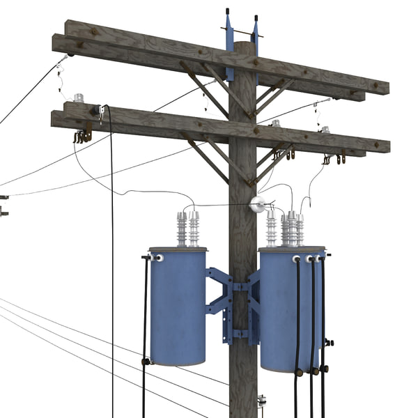 Utility Pole 3D Models