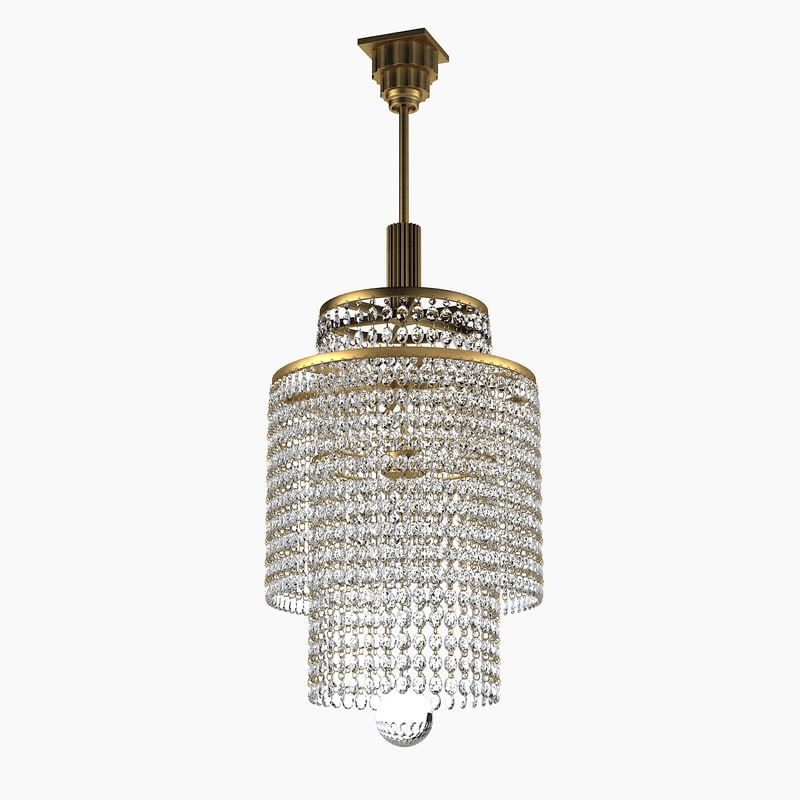 French Art French Deco Crystal Chandelier