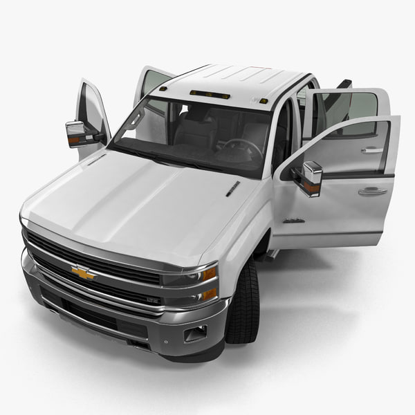 Chevrolet Silverado 3500HD 2015 High Country Pickup Rigged 3D Models