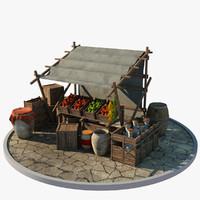 market stall 3D models