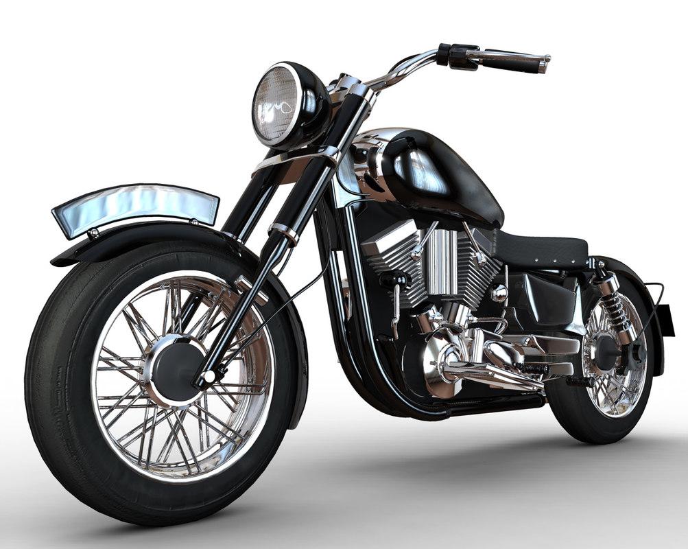 Maya Cartoon Motorbike