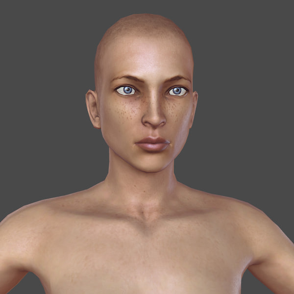Nude Woman (Rigged) 3D Models