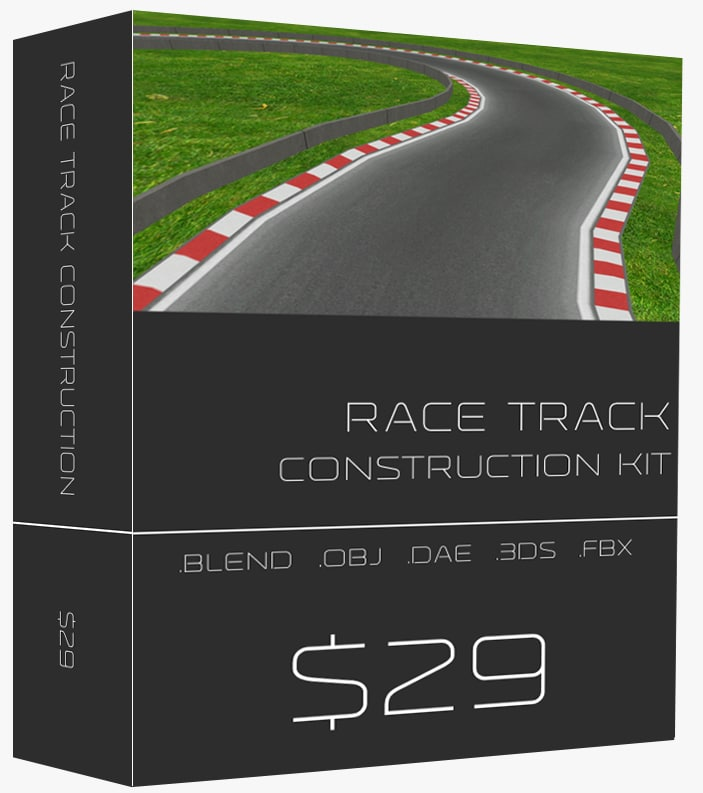 Race track construction kit