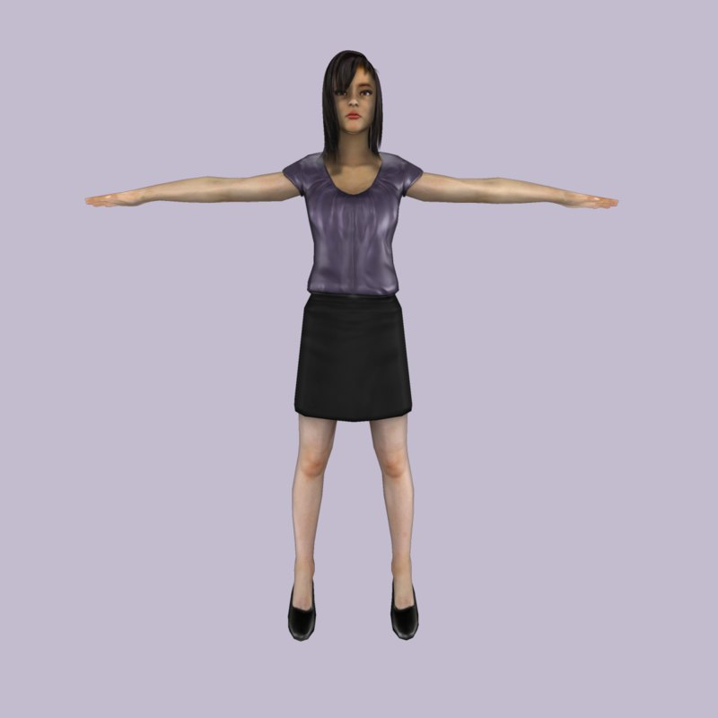 Female Low Poly Model