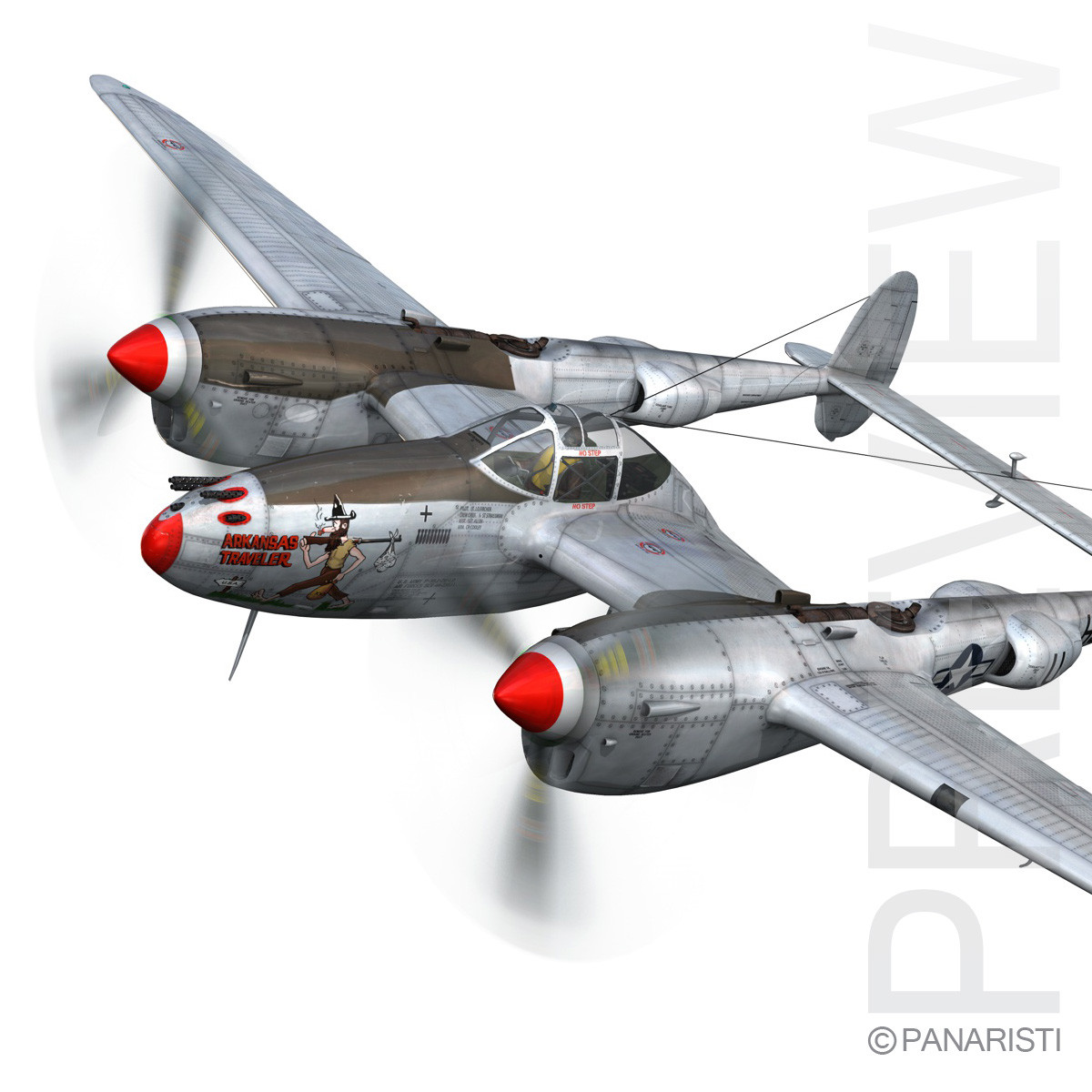 Lockheed P-38 Lightning - Arkansas Traveler