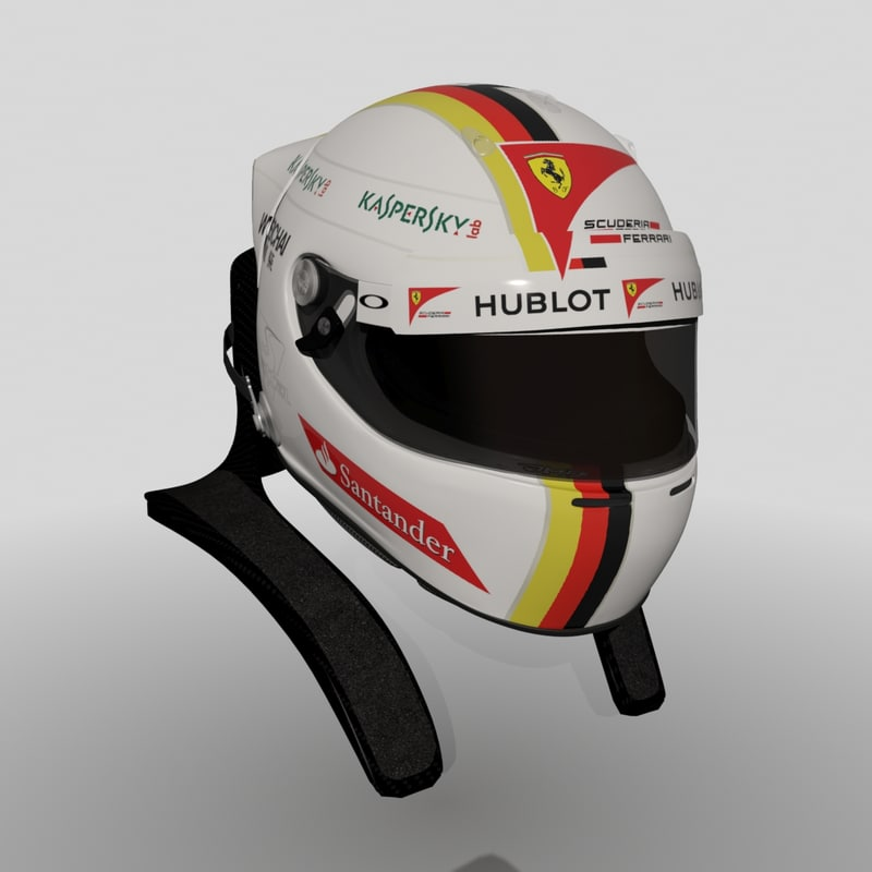 Sebastian Vettel Helmet 2014 3d formula sebastian v...