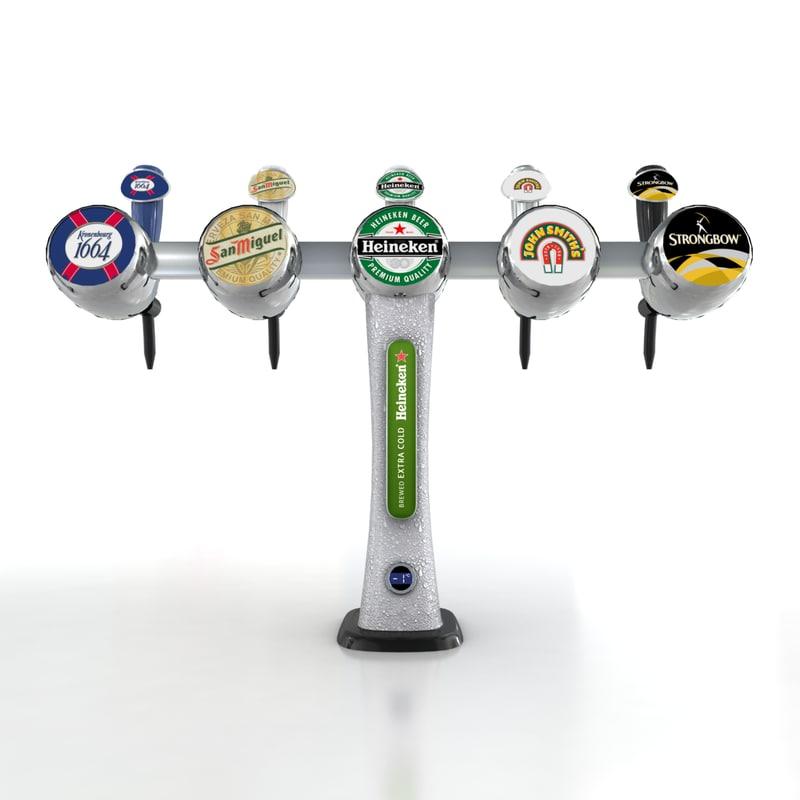 Beer tap beer tap fonts 3d model