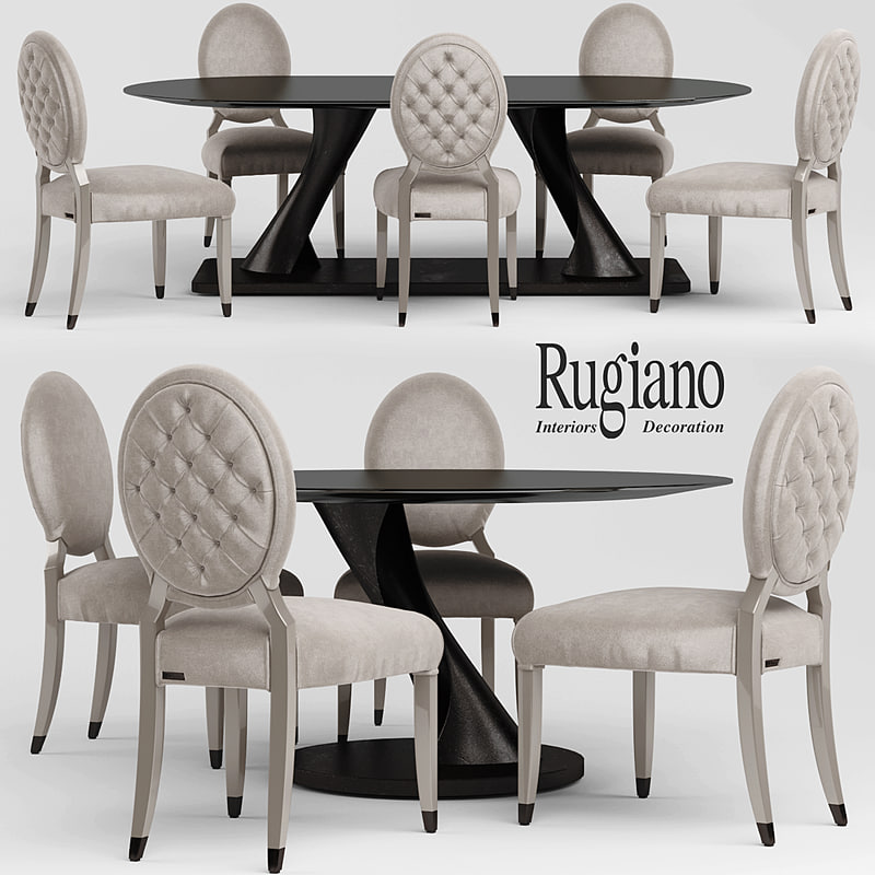 Chair and table rugiano Rea, rugiano ZOE, rugiano Cathy