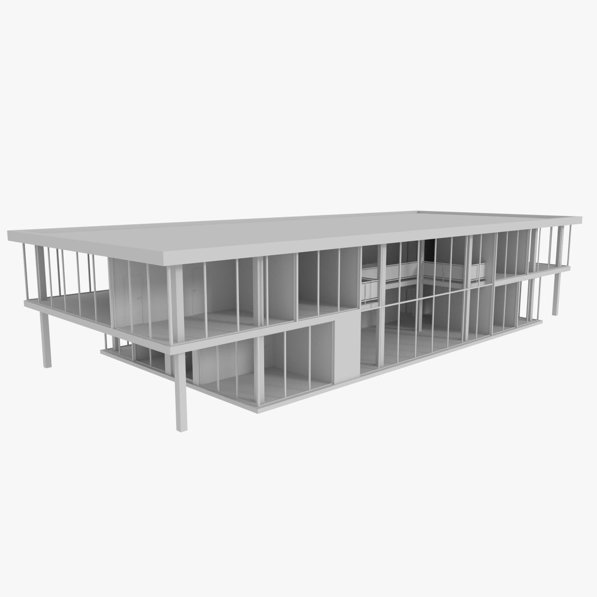 Modern office building interior exterior 3d obj for Modern office building exterior design