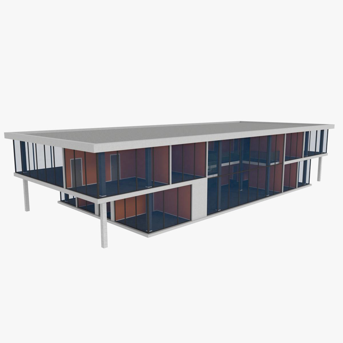 Modern office building interior exterior obj for Office building exterior design