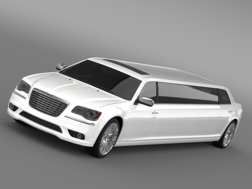 chrysler 300c 2013 limousine 3d model. Black Bedroom Furniture Sets. Home Design Ideas