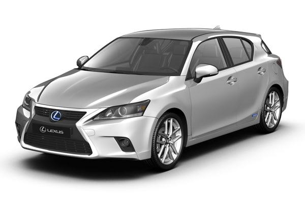 2015 Lexus CT200h 3D Models