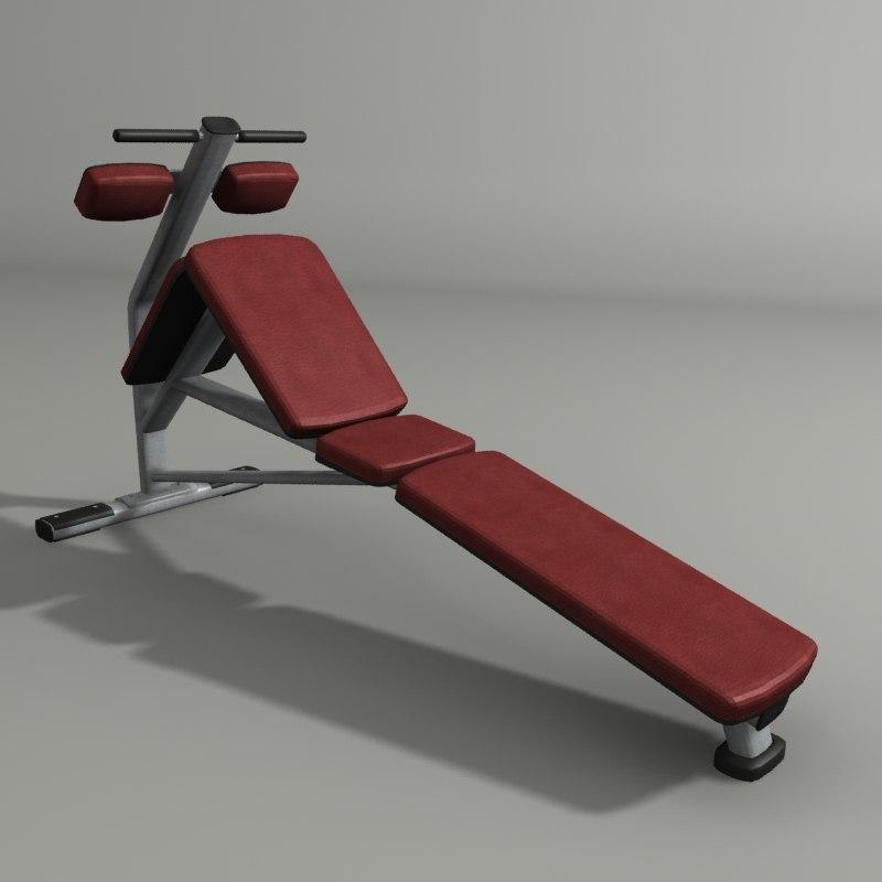 obj decline abdominal bench