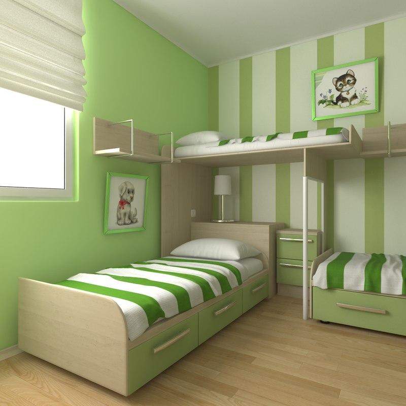 childrens bedroom 3d model